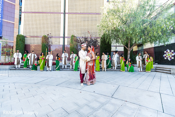 Bridal Party in Cerritos, CA Indian Wedding by RANDERYimagery