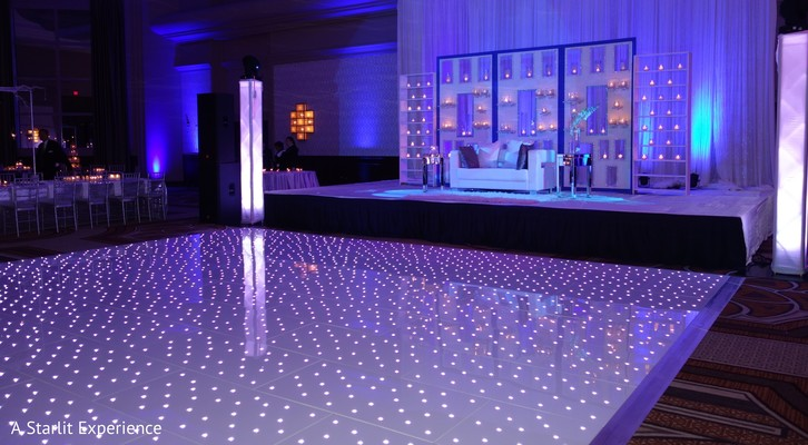 dance floor,led lights,reception ideas,indian reception ideas,lighting,reception lighting,a starlit experience,lighting details,reception lighting details