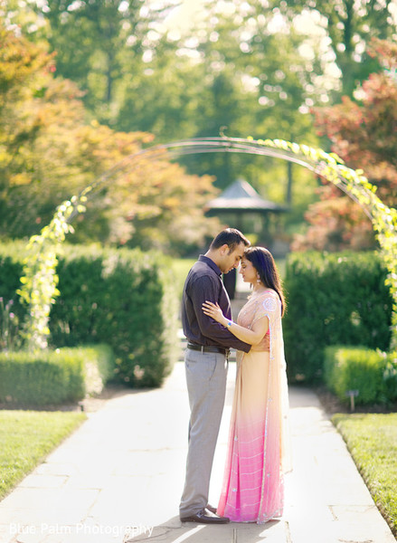 Engagement portraits in Washington DC Indian Engagement by Blue Palm Photography