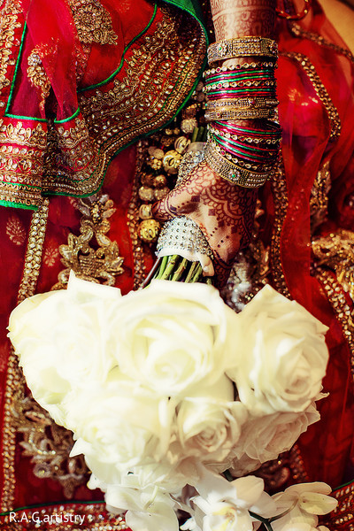 Bridal Bouquet in Atlanta, GA Indian Wedding by R.A.G. Artistry