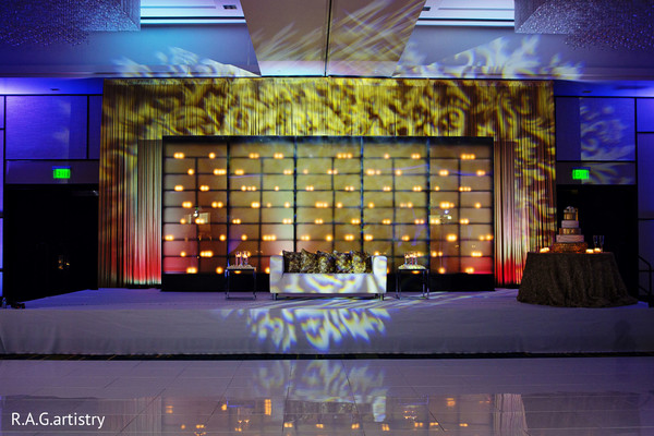 Reception in Atlanta, GA Indian Wedding by R.A.G. Artistry