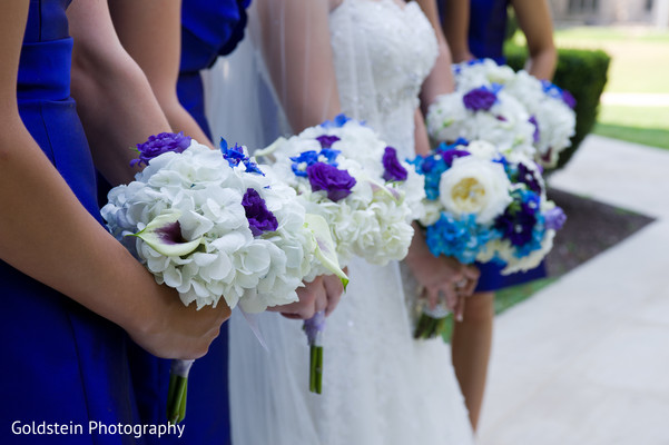 Bridal bouquets in Pittsburgh, PA Indian Fusion Wedding by Goldstein Photography