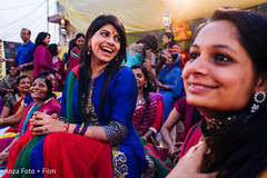 An Indian bride hosts a fun-filled mehndi event in Kolkata.