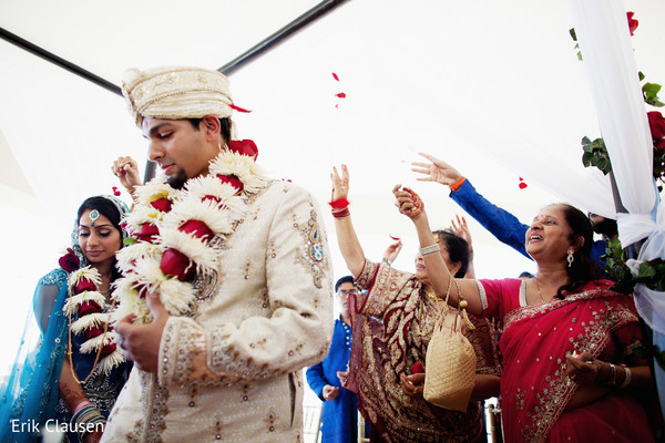 Ceremony in Cancun, Mexico Indian Destination Wedding by Erik Clausen