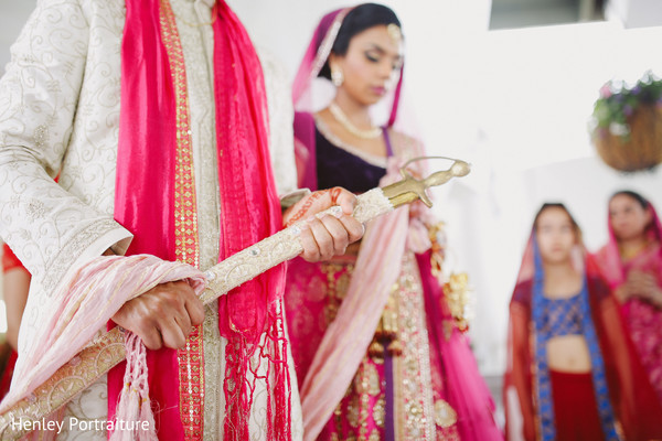 Ceremony in Ontario, Canada Sikh Wedding by Henley Portraiture