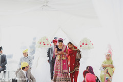 This lovely Sikh wedding ceremony is a traditional event.