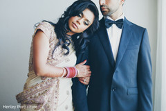 After their wedding ceremony, this Sikh bride and groom pose for beautiful portraits.