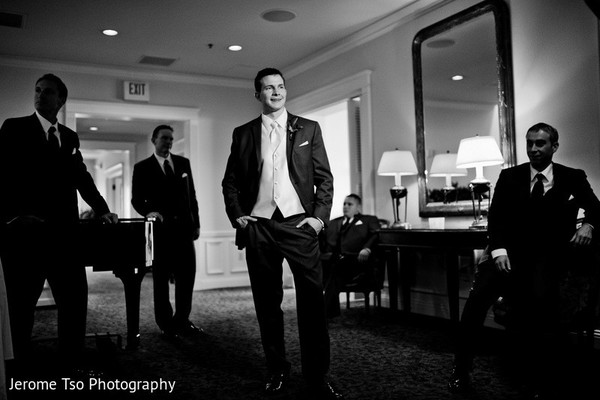 Groom Fashion in Seattle, WA Indian Fusion Wedding by Jerome Tso Photography