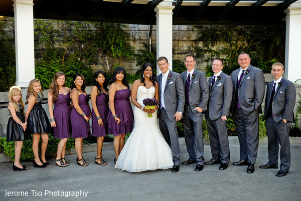 Bridal Party in Seattle, WA Indian Fusion Wedding by Jerome Tso Photography