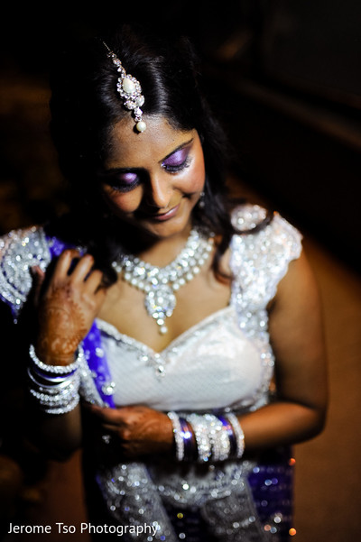 Hair & Makeup in Seattle, WA Indian Fusion Wedding by Jerome Tso Photography
