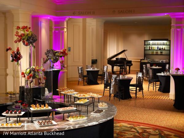 desserts,treats,dessert table,venue,wedding reception venue,piano,indian wedding reception venue