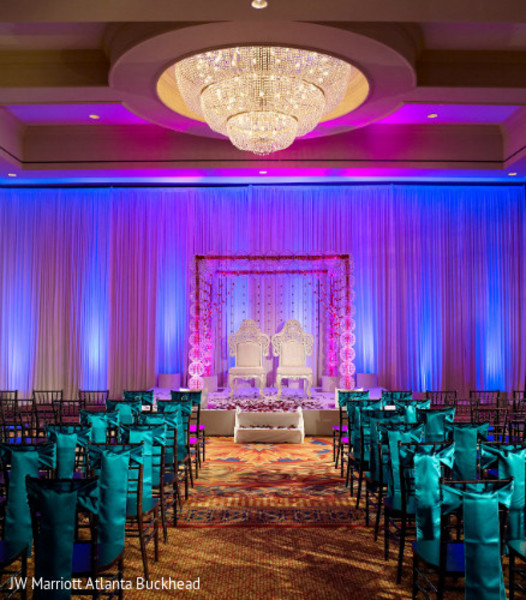 Mandap in Dream-Come-True Venue: ATL Marriott