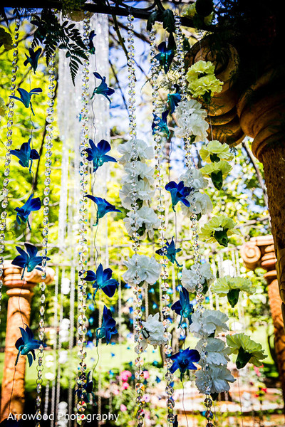 Floral & Decor in Fremont, CA Indian Wedding by Arrowood Photography