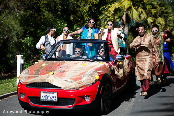 Baraat in Fremont, CA Indian Wedding by Arrowood Photography