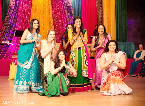 Sangeet in Houston, TX Indian Wedding by A&A Video + Photo