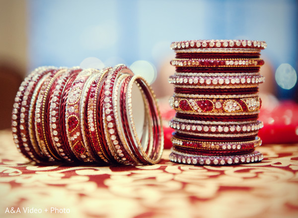 Bridal Jewelry in Houston, TX Indian Wedding by A&A Video + Photo