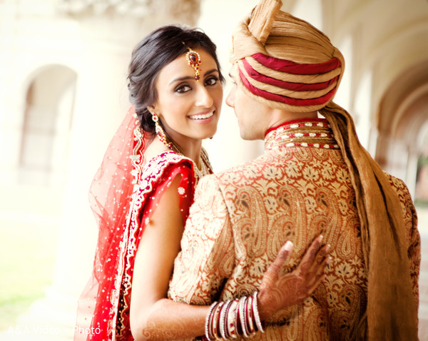 Portraits in Houston, TX Indian Wedding by A&A Video + Photo