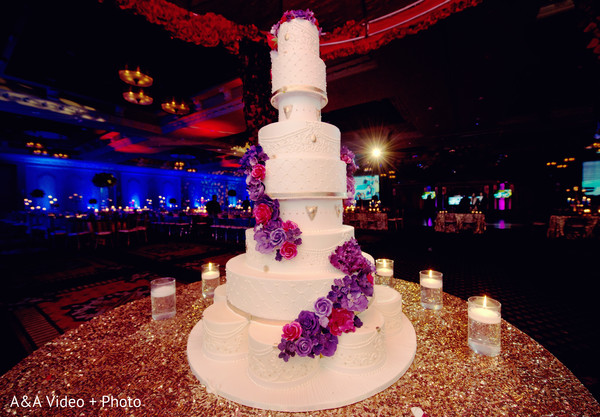 Cakes and Treats in Houston, TX Indian Wedding by A&A Video + Photo