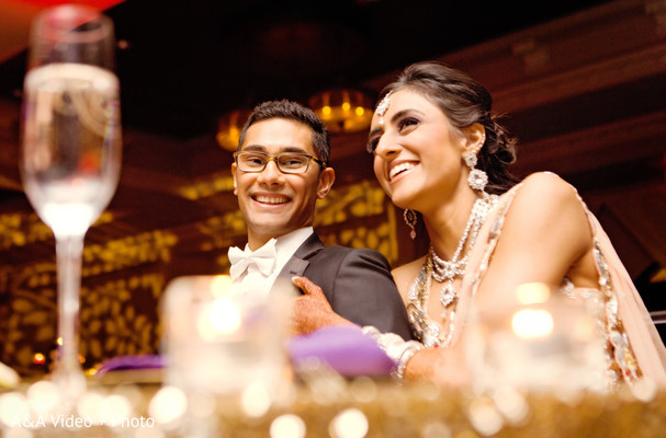 Reception in Houston, TX Indian Wedding by A&A Video + Photo