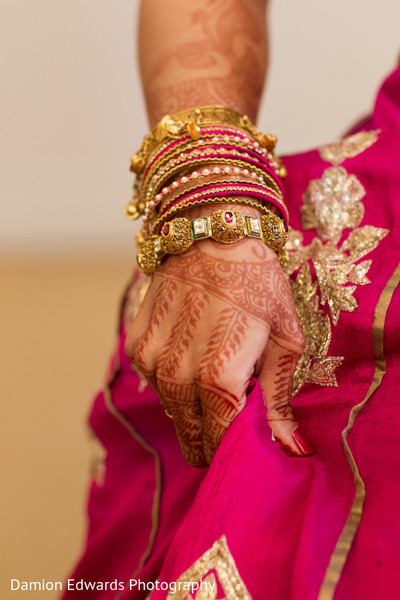 Bridal Jewelry in Cedar Grove, NJ Indian Wedding by Damion Edwards Photography