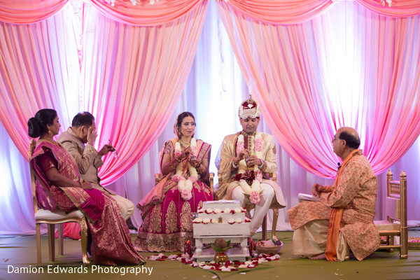 Ceremony in Cedar Grove, NJ Indian Wedding by Damion Edwards Photography