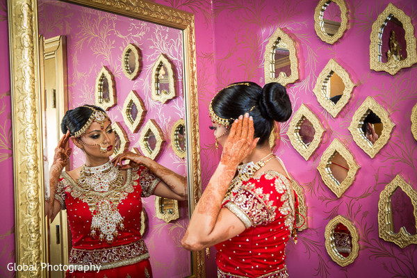 Getting Ready in Malibu, CA Indian Wedding by Global Photography
