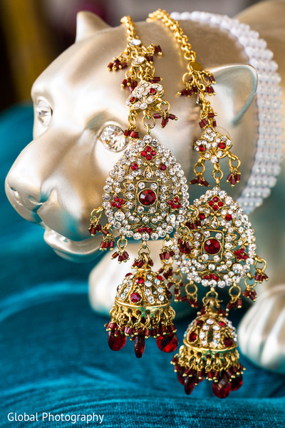 Bridal Jewelry in Malibu, CA Indian Wedding by Global Photography