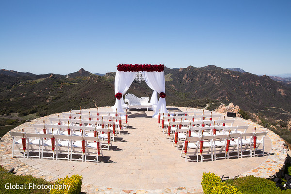 Mandap in Malibu, CA Indian Wedding by Global Photography