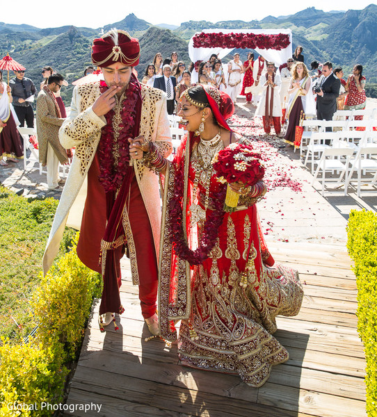 Ceremony in Malibu, CA Indian Wedding by Global Photography