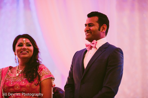 Reception in Westland, MI Indian Wedding by Jill Devries Photography