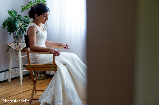 Getting Ready in Yonkers, NY Indian Wedding by PhotosMadeEz