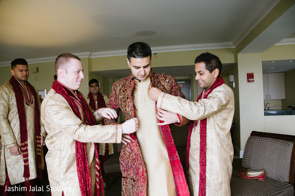 Getting Ready in Long Island, NY Indian Wedding by Jashim Jalal Studios