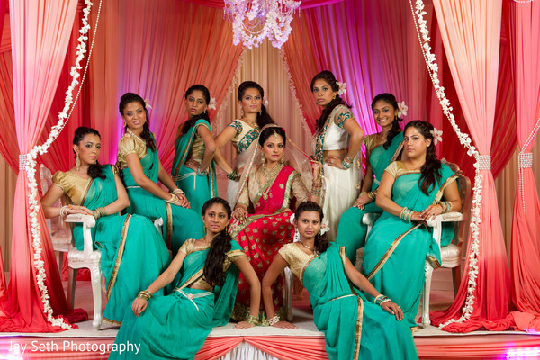 bridal party,bridesmaids,bridemaids outfit,indian bridesmaids,indian bridal party,indian bride,bridesmaid sari,bridesmaids sari,bridesmaids saree,bridesmaid saree,portrait of indian bride,indian bridal portraits,indian bridal portrait,indian bridal fashions,indian bride photography