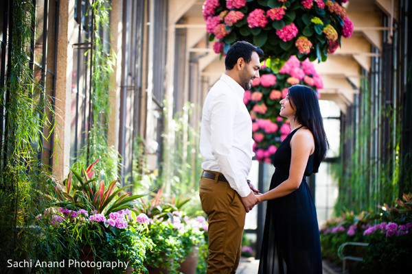 Portraits in Kennett Square, PA Indian Engagement by Sachi Anand Photography