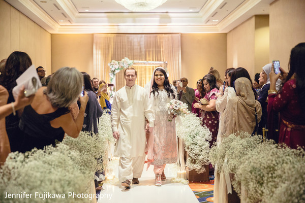 Ceremony in Long Beach, CA Pakistani Fusion Wedding by Jennifer Fujikawa Photography