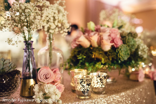 Floral & Decor in Long Beach, CA Pakistani Fusion Wedding by Jennifer Fujikawa Photography