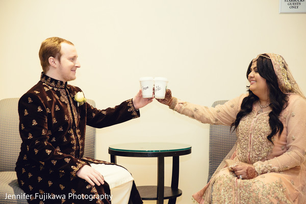 photos of pakistani bride and groom,photos of pakistani wedding,Pakistani wedding fashion,pakistani wedding attire,pakistani wedding outfits,Pakistani wedding portraits,Pakistani bride and groom portraits,Pakistani wedding photos,portraits of Pakistani bride and groom,starbucks,coffee,cute portrait idea
