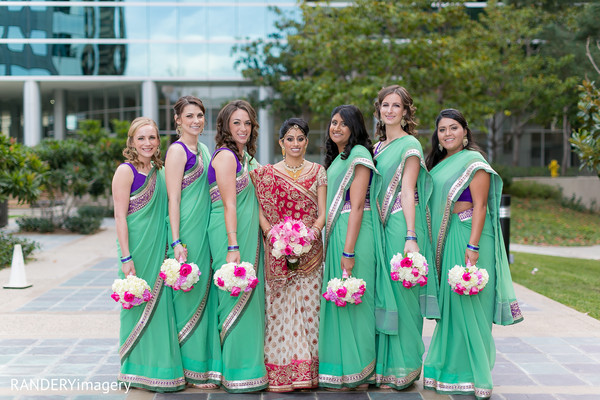 Bridal Party in La Jolla, CA Indian Wedding by RANDERYimagery