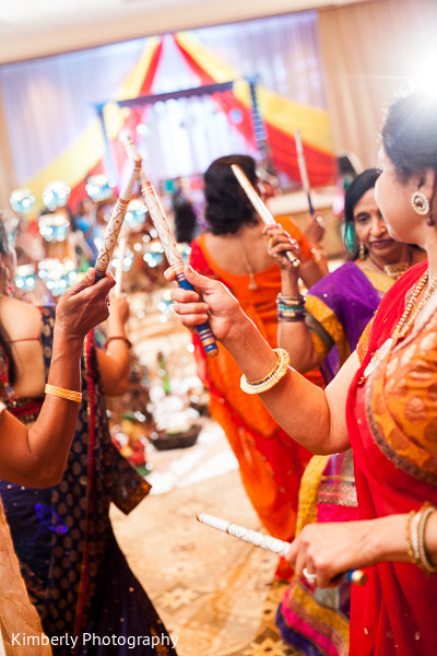 Garba in Palm Harbor, FL Indian Wedding by Kimberly Photography