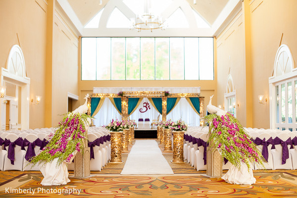 Mandap in Palm Harbor, FL Indian Wedding by Kimberly Photography