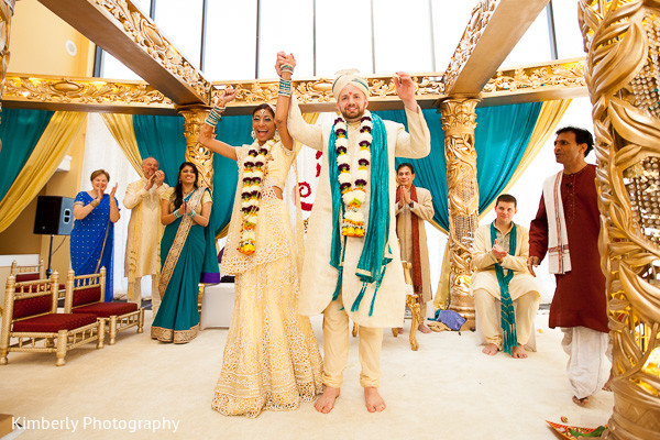 Ceremony in Palm Harbor, FL Indian Wedding by Kimberly Photography