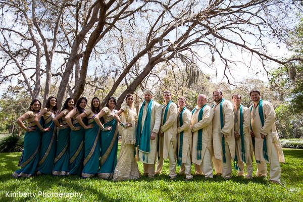 indian bridal party,indian bridesmaids,indian bridesmaid outfits,indian bride,indian sari,indian pre-wedding fashion