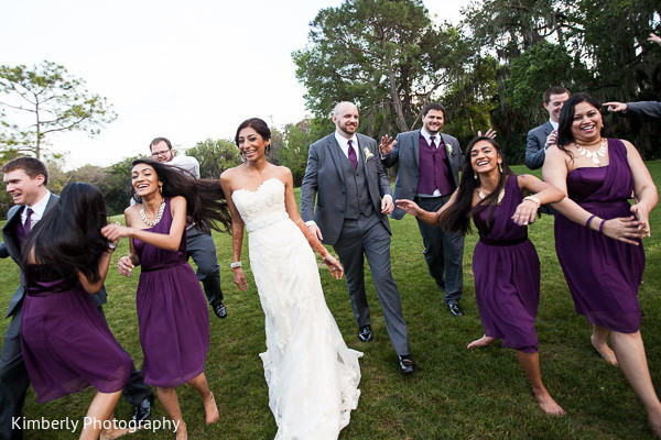 Bridal Party in Palm Harbor, FL Indian Wedding by Kimberly Photography