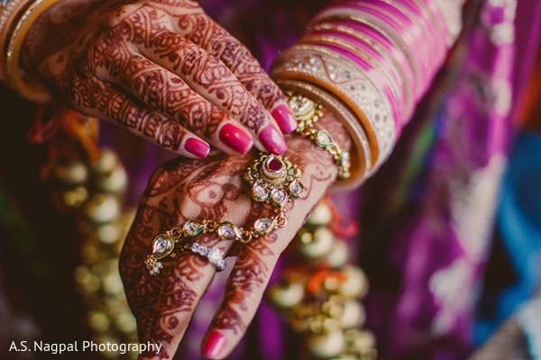 Mehndi Designs in Basking Ridge, NJ Indian Wedding by A. S. Nagpal Photography
