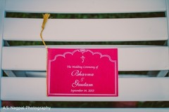 This Indian wedding ceremony features a beautiful stationery.