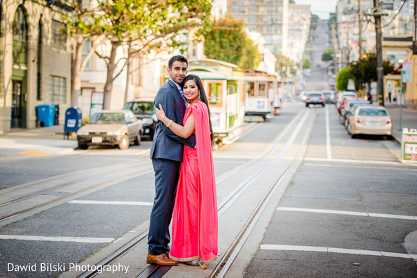 Engagement in San Francisco, CA Indian Engagement by Dawid Bilski Photography