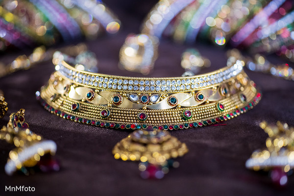 Bridal Jewelry in Fort Worth, TX Indian Wedding by MnMfoto