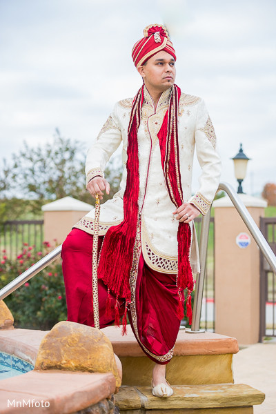 Groom Fashion in Fort Worth, TX Indian Wedding by MnMfoto