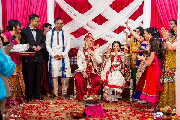 Ceremony in Fort Worth, TX Indian Wedding by MnMfoto