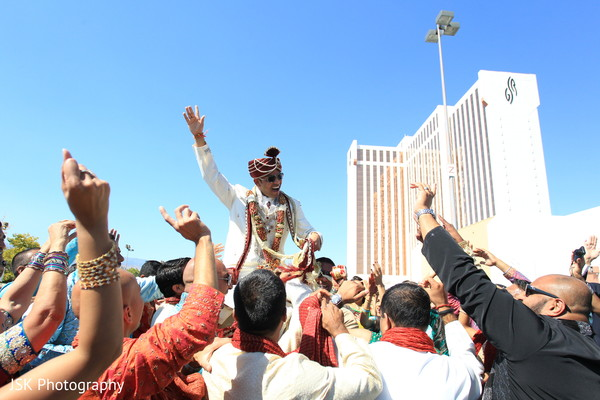 Baraat in Reno, NV Indian Wedding by JSK Photography